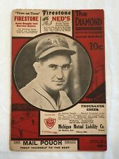 1936 Detroit Tigers vs. St. Louis Browns Baseball Scorecard Program Souvenir