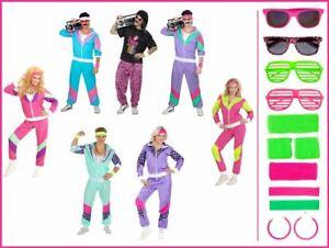 80er Jahre Junge Retro Trainingsanzug Kostüm Proll Jogginganzug Damen Herren,(K)