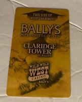 Bally's Atlantic City Claridge Tower & Wild Wild West Casino Slot Machine Card