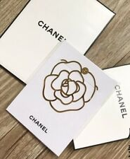 Chanel VIP Gift Elegant Camellia Flower Gold Bookmark Ships from USA