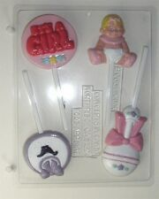 BABY GIRL ASSORTMENT CHOCOLATE LOLLIPOP CANDY MOLD MOLDS SHOWER PARTY FAVORS CC