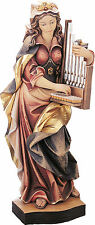 Sankt Cäcilia, Cecilia, Holz/ wood, Heiligenfigur Neu