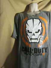 COD Call of Duty Black Ops 3 Skull Tee Video Game T-Shirt Size XL Gray NEW