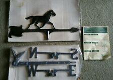 "Vintage 30"" Horse Whitehall Products Weathervane Black Roof Mount Aluminum"