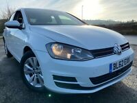 2013 VW GOLF 1.6 TDi BMT SE 5dr 105BHP VW S/History LONG MoT £0 Tax 2 KEYs