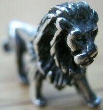 Fabulous Sterling Silver Miniature Study of A Regal Lion - Beautiful Detail