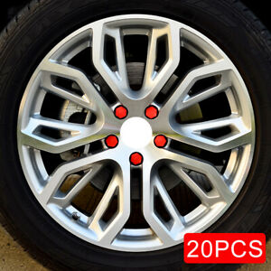 19mm Auto Car Wheel Tyre Stem Screw Nuts Bolt Rubber Caps Red Cover Accessories