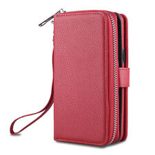 Leather Wallet Magnetic Card Zipper Case Cover For Samsung Galaxy S8 & S8 Plus