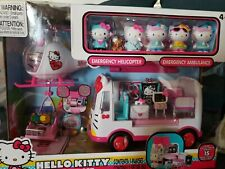 Hello Kitty Rescue Set with Helicopter & Ambulance New