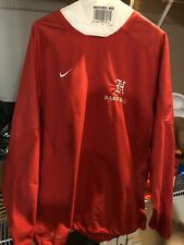 H Baseball Mens Red Nike Pullover Size Large Euc