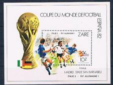 Zaire, fútbol WM 1982 Finale, bloque postfr. **