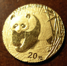 China 2001 Gold 1/20 oz Panda 20 Yuan UNC