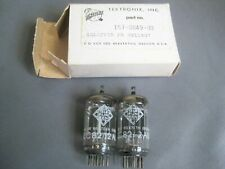 Pair Telefunken 12AU7 ECC82 Factory Selected for Tektronix NOS NIB Vacuum Tubes