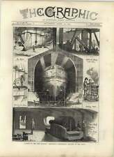 1875 Launch Of The New Ironclad, Alexandra, Preliminary Sketches