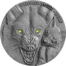 1 NZ-Dollar Niue 2017 Wildlife Family Wolf 1oz Silber 0.999