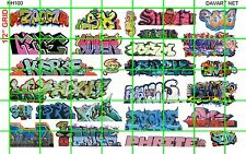 NH100 1/2 Set N SCALE MODERN URBAN GRAFFITI TAGGING for TRAINs AND BUILDINGS