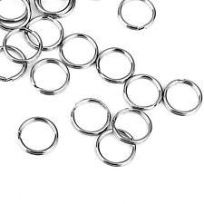 Stainless Steel Keyring Split Key Rings Alloy Hoop Ring Nickel Plated Loop Neu.
