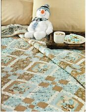 Cocoa & Blue Ice Quilt Pattern Pieced SH