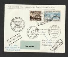 Luxembourg 1965 FFC air mail first flight card Bruxelles - Abidjan Cote d' Ivore