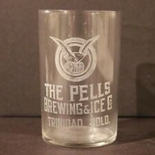Pells Brewing Etched Glass  Trinidad, CO