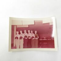 Vintage 1956 Kodacolor Women's Bowling Team Group Bowling Alley Photograph