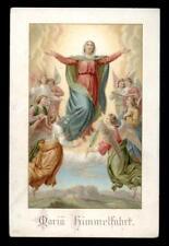antico santino cromo-holy card MARIA ASSUNTA 6