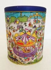 """Rare Inspector Bear & Detective Trunk Carnival Capers Tin - 7.5"""" x 6"""""""