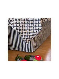 Mackenzie Childs COURTLY STRIPE **King Size** BED SKIRT NEW $350 m19-n