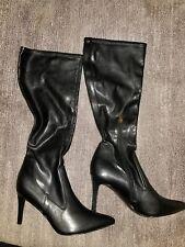 Calvin Klein BRIELLA Stretch Knee High Fashion Boots Black Sz 9m