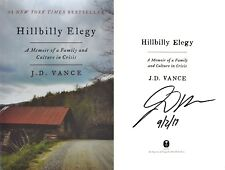 J.D. Vance~SIGNED IN PERSON~Hillbilly Elegy~1st Edition HC! + Photos!!