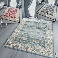 Blue / Red / Grey Large Traditional Area Rug Classical Soft Floral S -XL Rugs