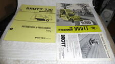 Rare vintage job lot of Brott brochures from the 1970's (3)