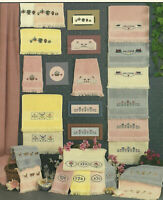 Count On Your Fingertips Counted Cross Stitch Pattern Leaflet Borders Towels OP