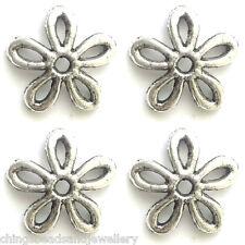 40 Antique Silver 11mm Tibetan Silver Bead Caps