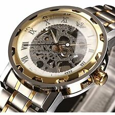 Wrist Watches ALPS Men's Classic Skeleton Stainless Steel Mechnical Watch With