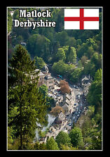 MATLOCK, DERBYSHIRE - SOUVENIR NOVELTY FRIDGE MAGNET - FLAGS / SIGHTS - NEW/GIFT