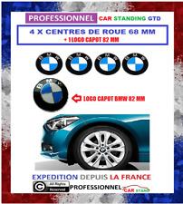 4x Cache Moyeu Jante Centre De Roue BMW 68 MM  + LOGO CAPOT BMW 82 MM