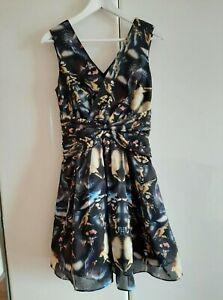TED BAKER BIRD PRINT DRESS SIZE: 1, UK 8