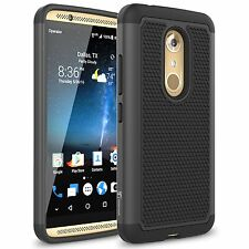 ZTE Axon 7 / Axon 2 Case, Heavy Duty Dual Layer Armored Hybrid Case - Black