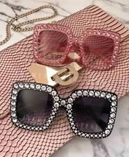 PINK Diamante SQUARE Oversize SUNGLASSES Celebrity FESTIVAL Ibiza PARTY    .98