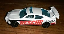 Hot Wheels 2009 White Rescue Vehicle Dodge Charger Drift Mattel diecast Police