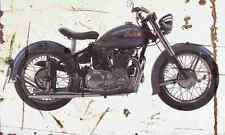 Indian Scout 1949 Aged Vintage SIGN A3 LARGE Retro