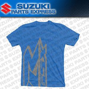 NEW GENUINE SUZUKI GSX-R EMERGE TEE T-SHIRT BLUE GSXR 600 750 1000 990A0-16216