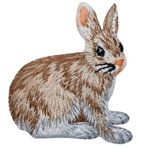 """Hare Applique Patch - Rabbit, Jackrabbit, Leveret Badge 1-3/4"""" (Iron on)"""