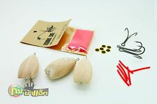Body kits do 3 sets wooden handmade lure fishing Jump Frog 4.5 cm topwater
