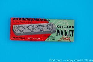 Kes-Add, Pocket Adder Vintage Calculator in Original Box with Instructions