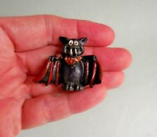 DOLLHOUSE MINIATURE ~ HALLOWEEN ~ SCARY BLACK BAT ~ RESIN