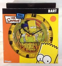 The Simpsons Wall Clock: Bart - Springfield Skate Crew