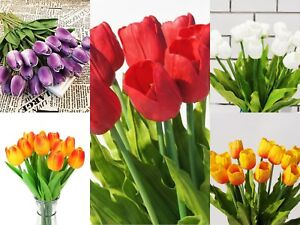 """USA SELLER 26"""" XLARGE Real touch artificial tulips latex flowers (PACK OF 5)"""