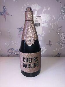 Kate Spade New York Novelty Champagne Bottle Cheers Darling BNWT Wristlet Bag